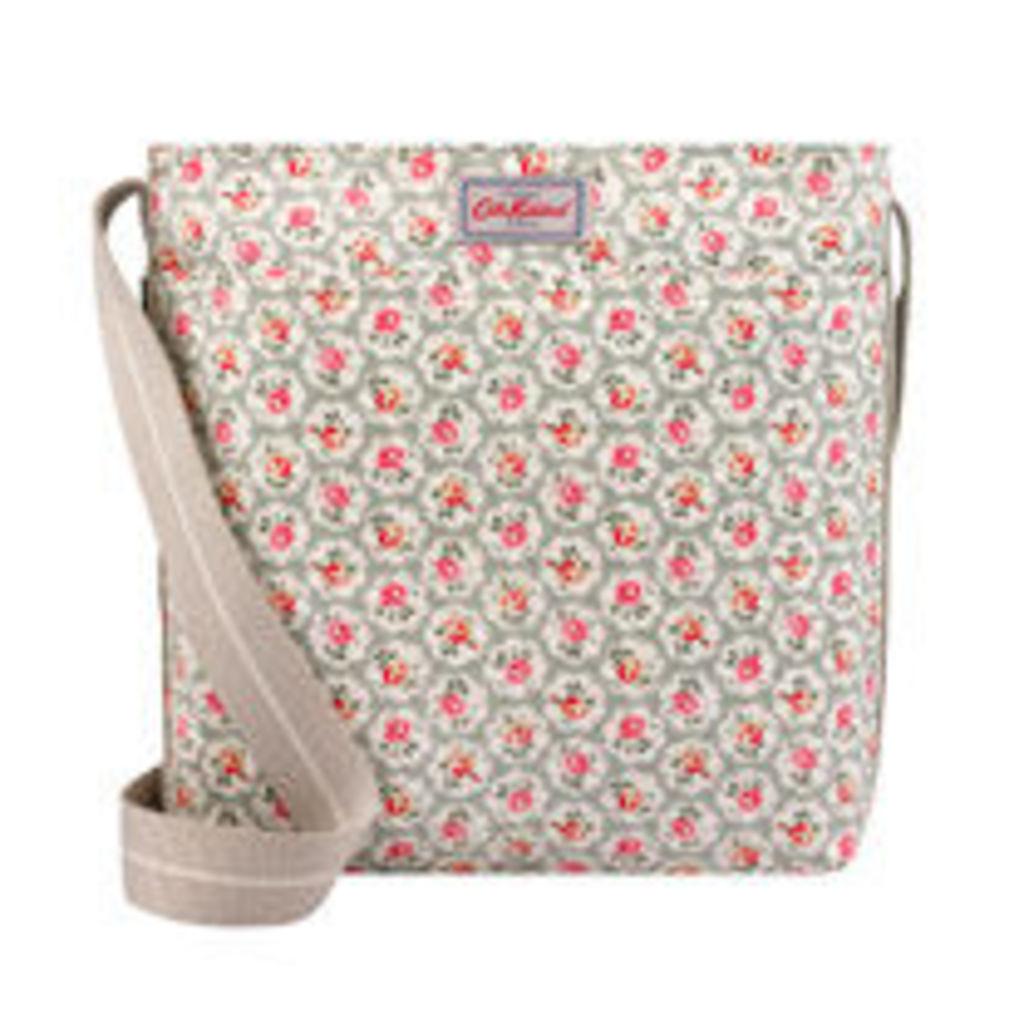 Provence Rose Zipped Messenger Bag
