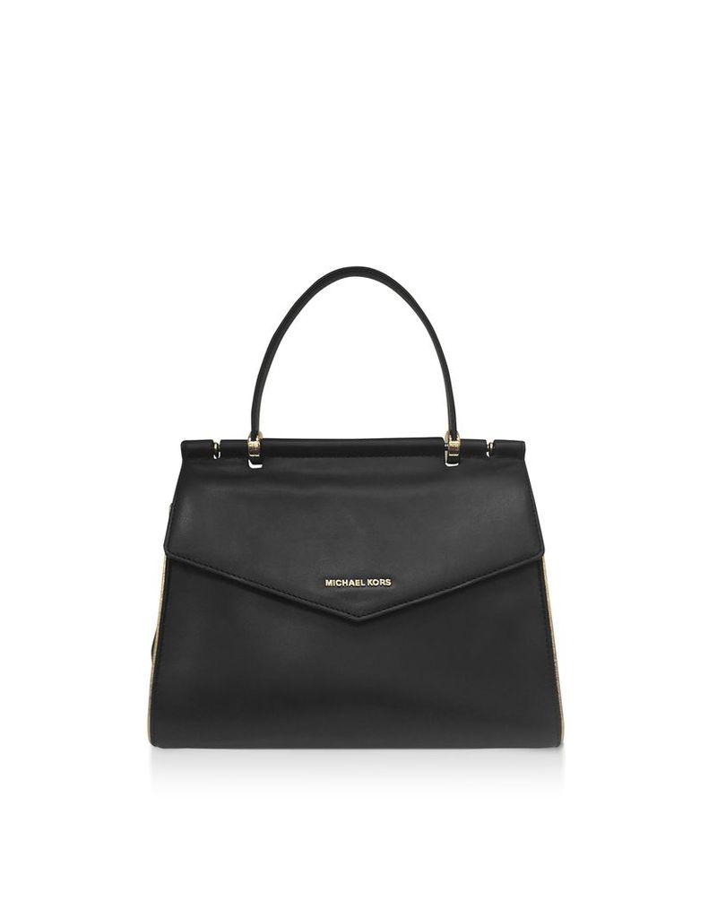 Michael Kors Designer Handbags, Black Jasmine Medium Top-Handle Satchel Bag