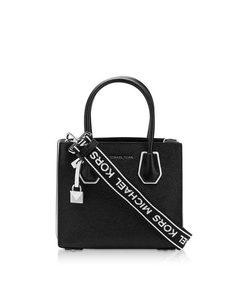 Michael Kors Designer Handbags, Black & White Mercer Medium Messenger Bag