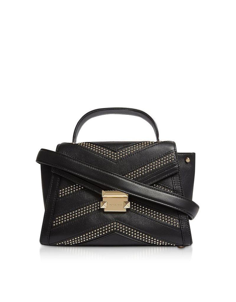 Michael Kors Designer Handbags, Whitney Medium Studded Top-Handle Satchel Bag