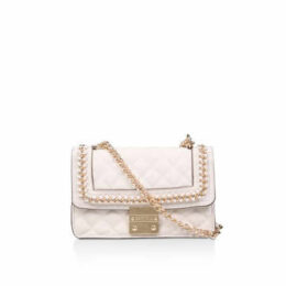 Carvela Bailey Quilted Chain Bag - Cream Quilted Chain Shoulder Bag