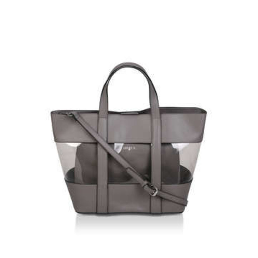 Carvela Perspex Tote With Pouch - Grey Perspex Tote Bag