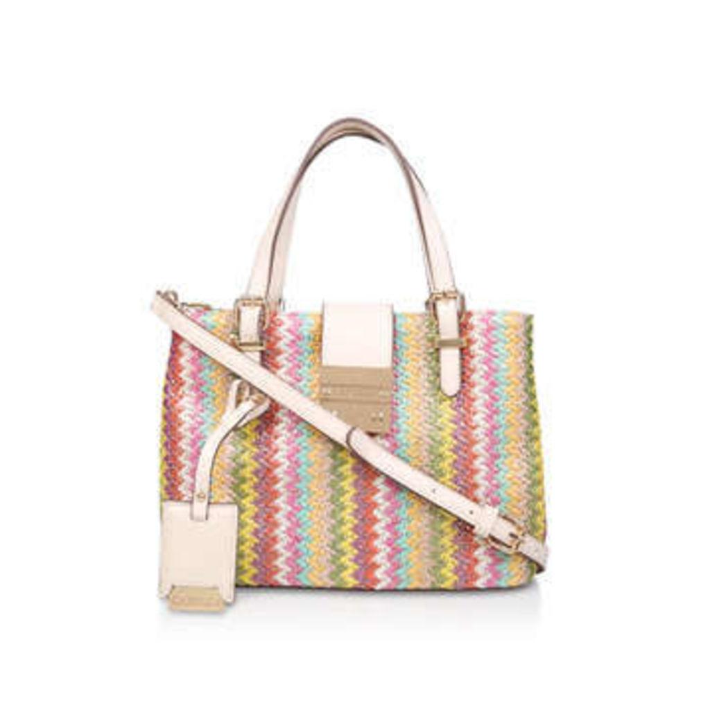 Carvela Micro Mandy - Rainbow Strip Beach Tote Bag