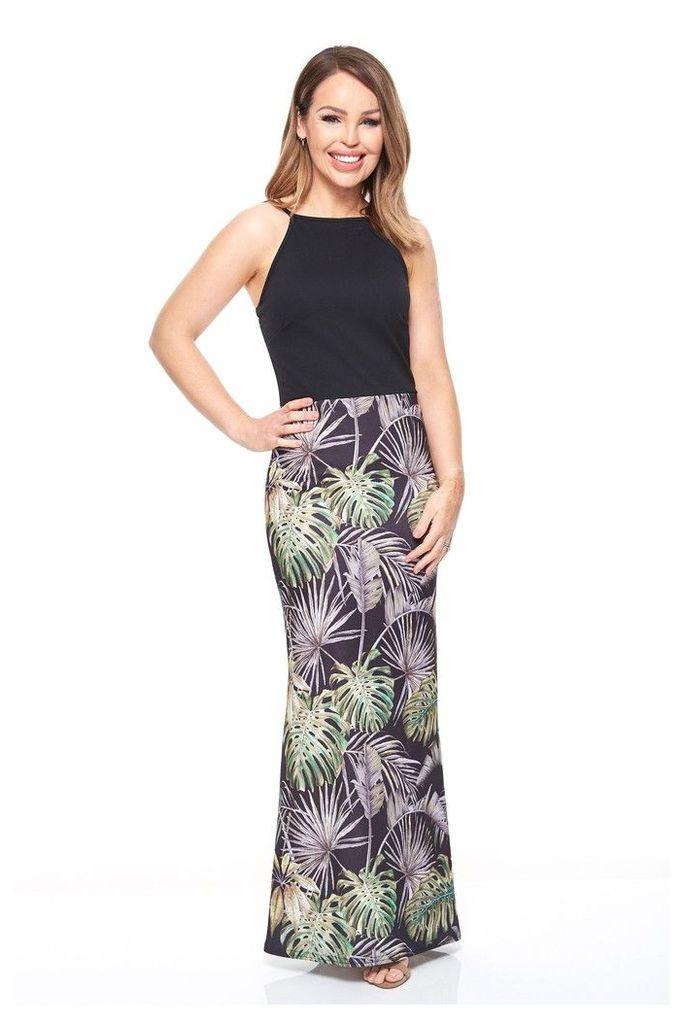 Womens Want That Trend Contrast Cold Shoulder Maxi Dress -  Black