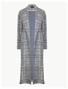M&S Collection Textured Open Front Duster Coat
