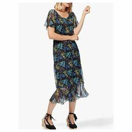 Brora Liberty Print Silk-Chiffon Dress, Midnight Leaf