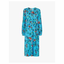 L.K.Bennett Ella Print Midi Dress, Blue/Multi
