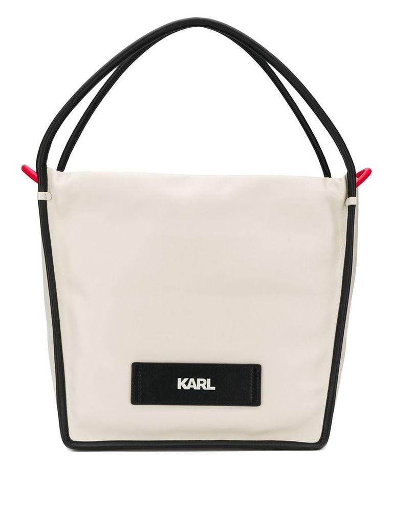 Karl Lagerfeld K/Athleisure shopper tote - Neutrals