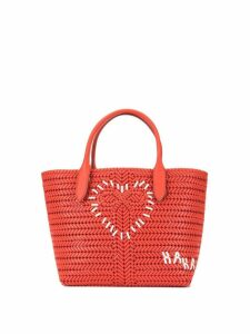 Anya Hindmarch large Heart Neeson tote - Red