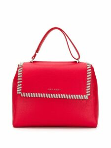 Orciani chain embellished tote bag - Red