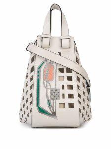 Loewe grid tote bag - White