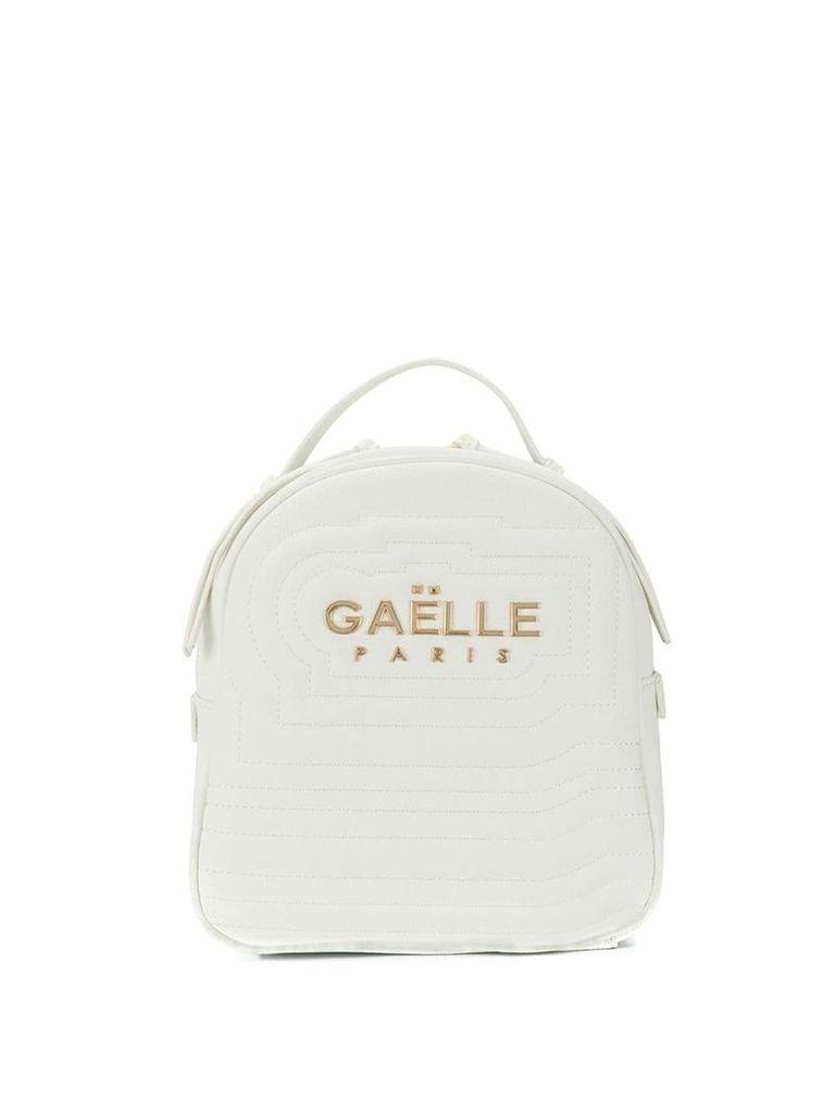 Gaelle Bonheur gold logo backpack - White