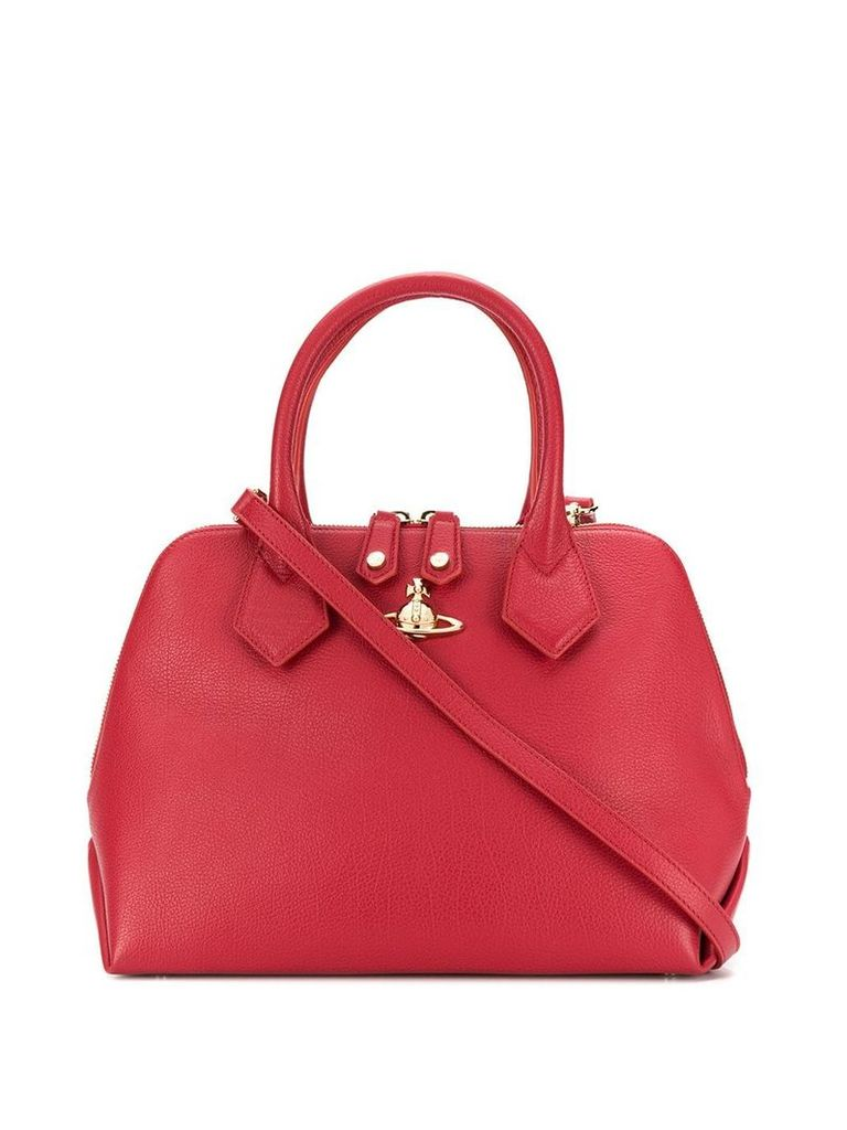 Vivienne Westwood shoulder tote logo bag - Red