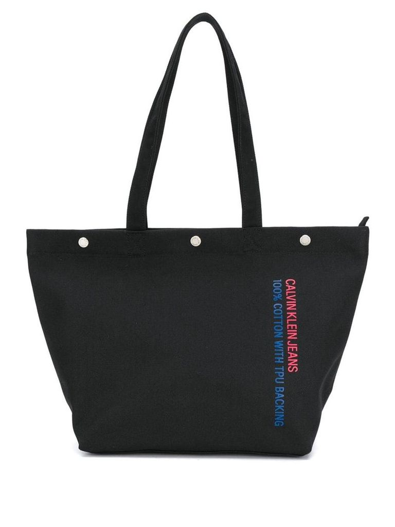 Ck Jeans logo printed shopper bag - Black
