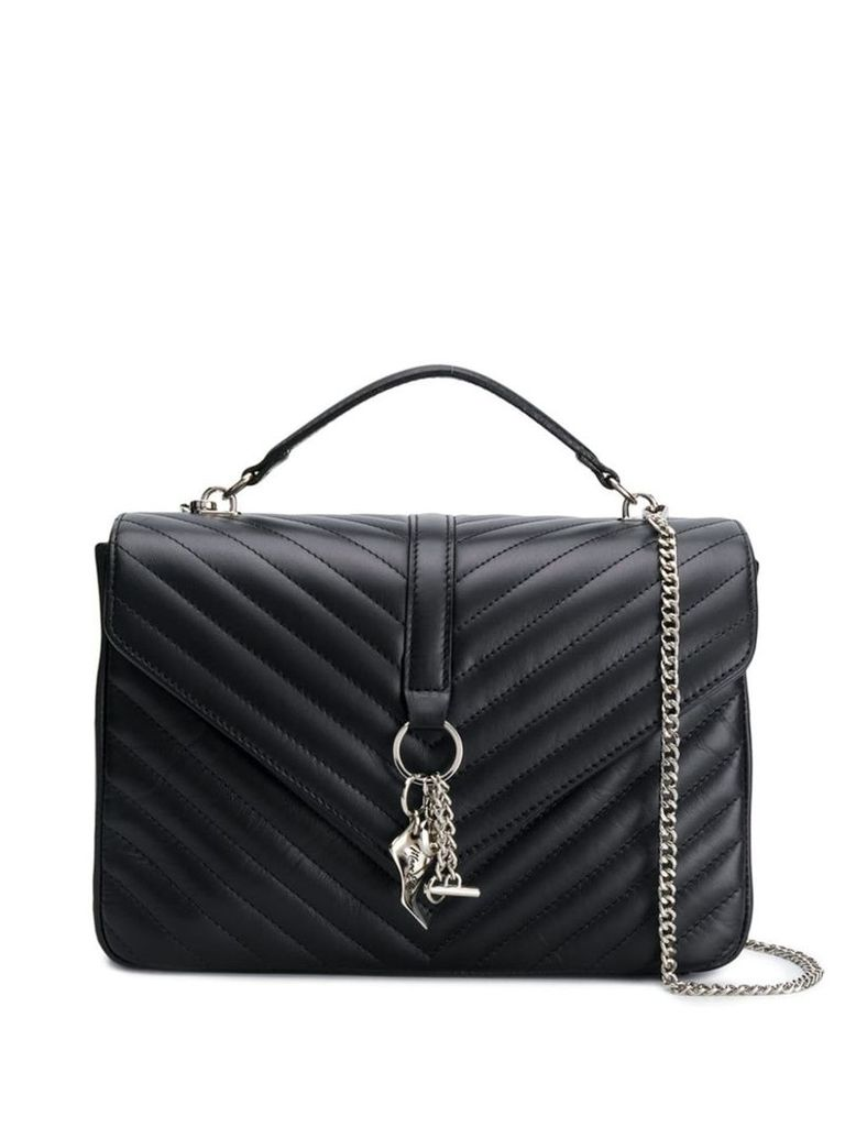 Marc Ellis black quilted tote