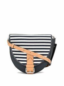 JW Anderson striped crossbody bag - Blue