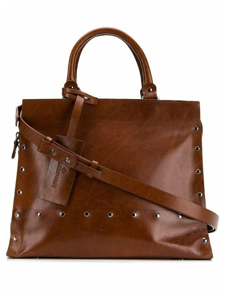 A.F.Vandevorst studded shoulder bag - Brown