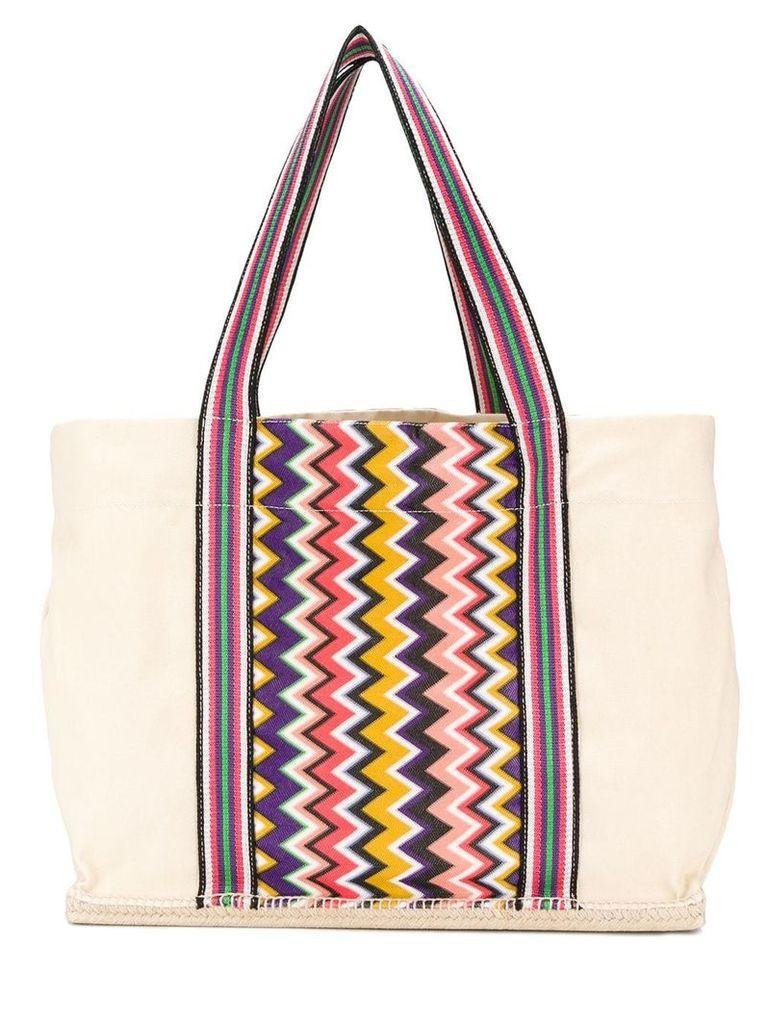 Castañer Castañer x Missoni Margherita tote bag - White