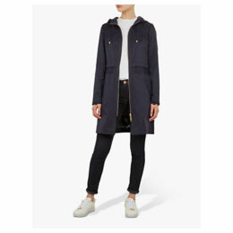 Ted Baker Torine Lace Detail Hooded Parka, Blue Navy