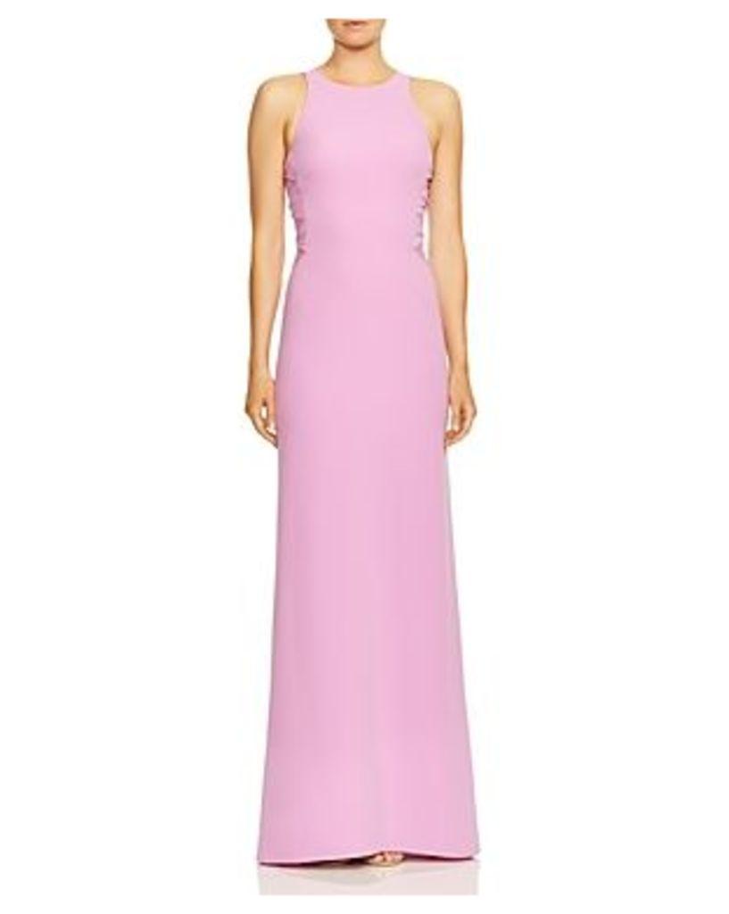 Halston Heritage Twist Mesh High-Neck Gown