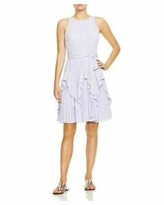 Halston Heritage Pleated Fit-and-Flare Dress