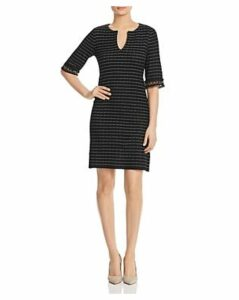 Misook Ribbed Striped Tunic Dress