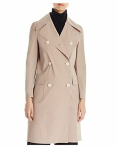 Harris Wharf Light Technic Double-Breasted Button Front Military Coat