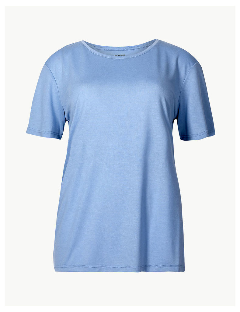 M&S Collection Round Neck Short Sleeve Relaxed Fit T-Shirt