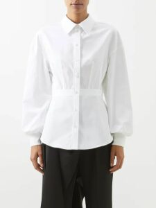 Nili Lotan - Colette Silk Satin Blouse - Womens - Black