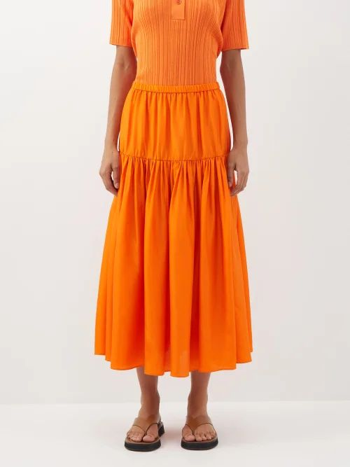 Nili Lotan - Benning Double Breasted Cotton Trench Coat - Womens - Dark Green
