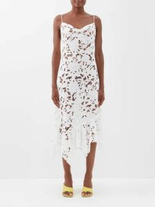 Msgm - Zebra Print Cloqué Mini Dress - Womens - Black