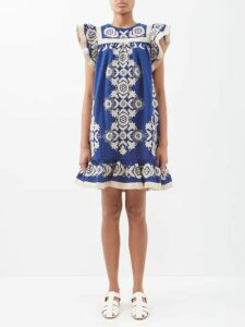 Msgm - Zebra Print Jacquard Skirt - Womens - Black