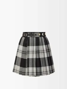 Msgm - Scoop Neck Stretch Knit Top - Womens - Red
