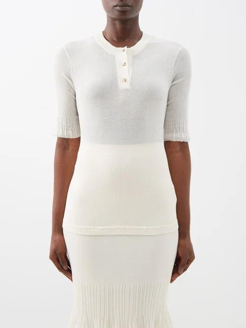 Joseph - Coopers Tie Waist Linen Blend Dress - Womens - Blue