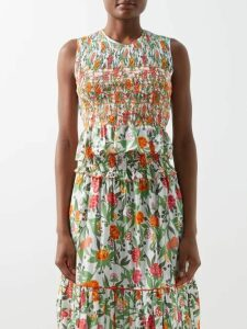 Joseph - Coopers Tie Waist Linen Blend Dress - Womens - Blue