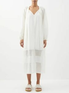 Joseph - Heston Single Breasted Cotton Blend Blazer - Womens - Ivory