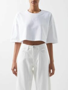Proenza Schouler - Belted Oxford Shirtdress - Womens - Orange