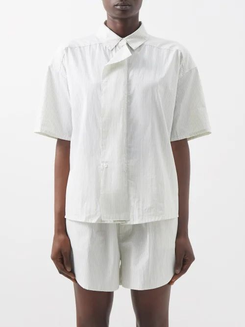 Chimala - Patch Pocket Cotton Tunic Dress - Womens - Black