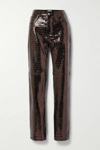 SAINT LAURENT - Manhattan Small Leather Tote - Burgundy