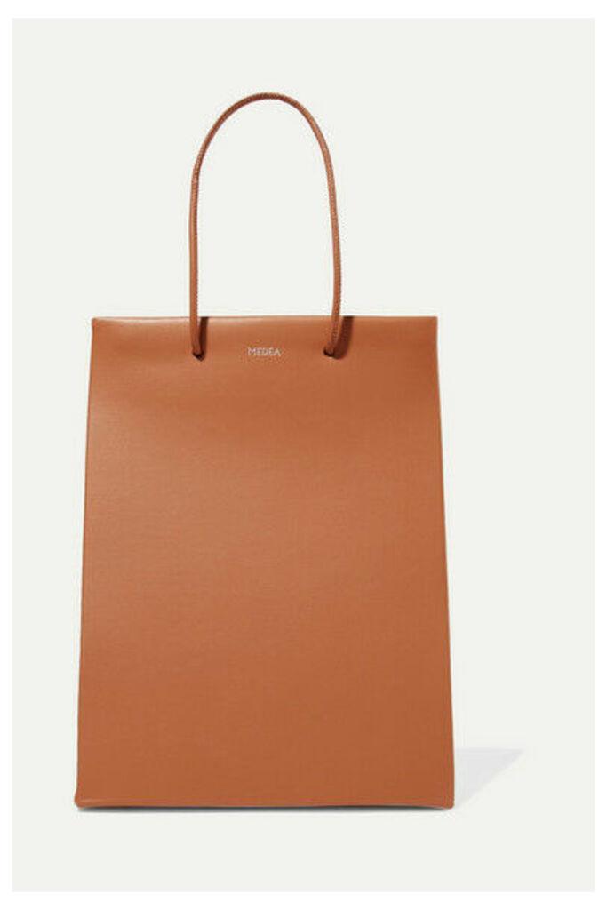 MEDEA - Prima Tall Two-tone Leather Tote - Tan