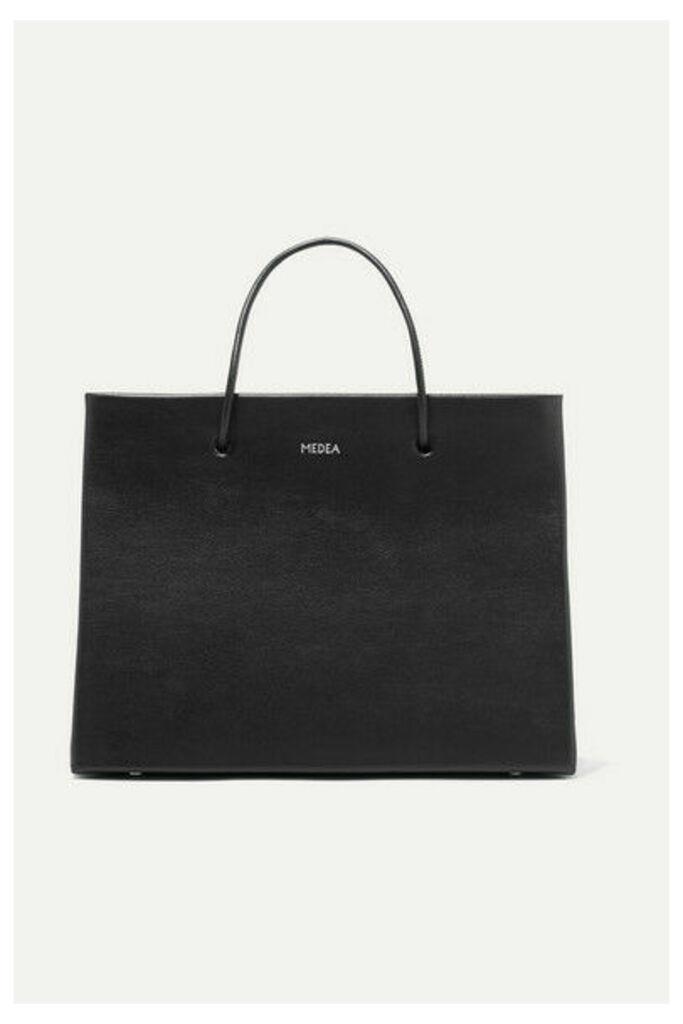 MEDEA - Prima Hanna Small Leather Tote - Black