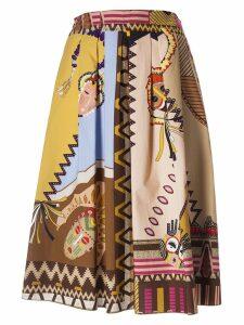 Etro Aztec Style Print Skirt