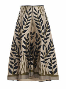 Fendi Embroidered Flared Skirt