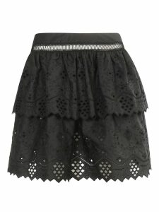 Alberta Ferretti Cut-out Detail Skirt