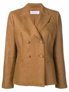 Max Mara double-breasted blazer - Brown