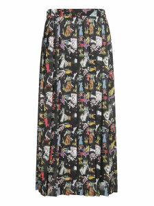 Ultrachic Printed Pleated Skirt