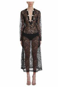 Alessandra Rich Lace Kaftan Dress