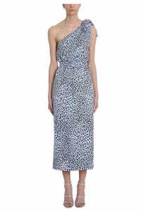 Alessandra Rich One Shoulder Light Blue Dress