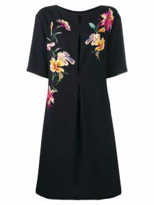 Etro embroidered flower dress - Black