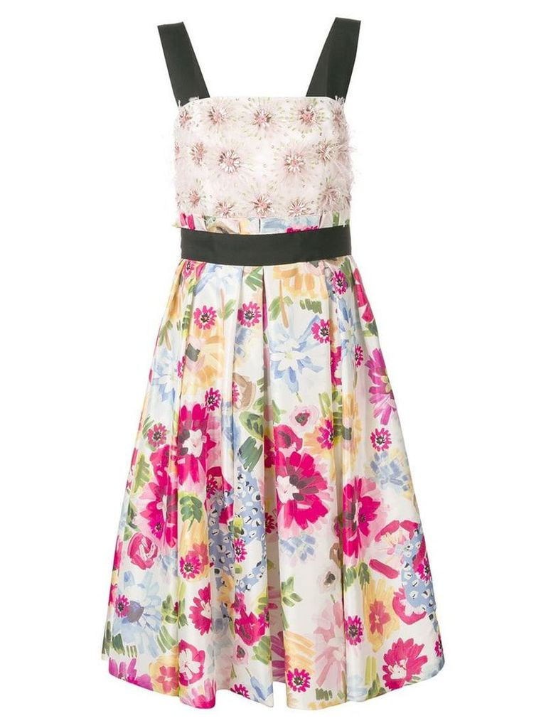 Escada floral-print dress - White